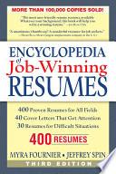 Encylopedia of Job winning Resumes