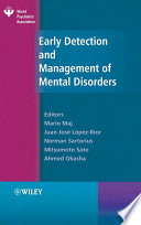 Early Detection And Management Of Mental Disorders Book PDF