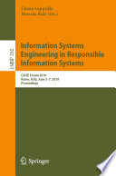 Information Systems Engineering in Responsible Information Systems Book