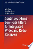 Continuous Time Low Pass Filters for Integrated Wideband Radio Receivers