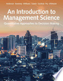 An Introduction to Management Science  Quantitative Approach Book