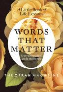 Words That Matter Pdf/ePub eBook