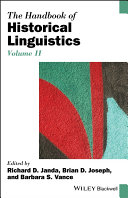 The Handbook of Historical Linguistics  Volume II
