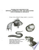Information Resources for Reptiles  Amphibians  Fish  and Cephalopods Used in Biomedical Research