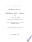 Tables and Results of the Precipitation  in Rain and Snow  in the United States