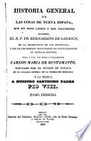 Historia general de las cosas de Nueva Espanã  , Band 1