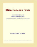 Miscellaneous Prose Webster S French Thesaurus Edition