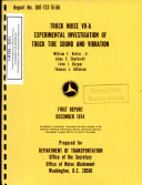 Truck Noise Vii A Experimental Investigation Of Truck Tire Sound And Vibration Book PDF