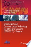 Information and Communication Technology for Intelligent Systems  ICTIS 2017