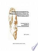 Transcendental Phenomenological Psychology