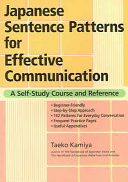 Japanese Sentence Patterns for Effective Communication