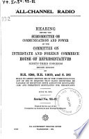 All-channel Radio, Hearing Before the Subcommittee on Communications and Power ..., 93-2, July 22, 1974