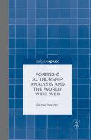 Forensic Authorship Analysis and the World Wide Web [Pdf/ePub] eBook