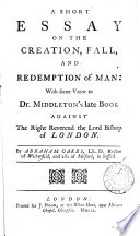 A Short Essay On The Creation Fall And Redemption Of Man