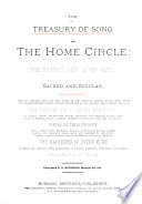 The Treasury of Song for the Home Circle