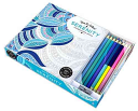 Vive Le Color  Serenity  Coloring Book and Pencils