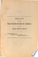 Treaty Between the United States of America and the Omaha Tribe of Indians