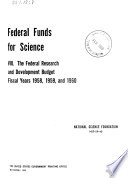 Federal Funds for Science Book