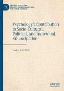 Psychology   s Contribution to Socio Cultural  Political  and Individual Emancipation