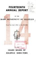 Report Of The Dept Of Highways