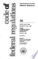 Code of Federal Regulations Book