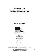 Manual of Photogrammetry Book