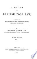 A History of the English Poor Law