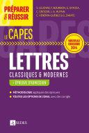 Préparer et réussir le CAPES de Lettres classiques et modernes - Épreuve d'admission