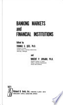Banking Markets and Financial Institutions