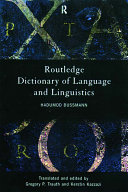 Routledge dictionary of language and linguistics