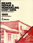Repair and Remodeling Cost Data  1989