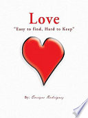 Love    Easy to Find  Hard to Keep    Book