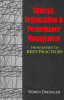 Strategy, Organization and Performance Management