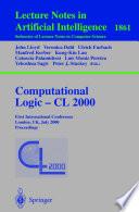 Computational Logic     CL 2000 Book