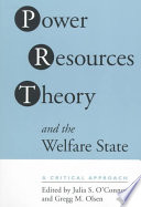 Power Resources Theory And The Welfare State Book PDF