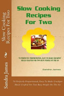 Slow Cooking Recipes for Two Book