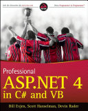 Professional ASP NET 4 in C  and VB