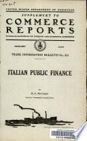 Italian Public Finance