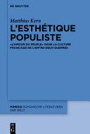 Pdf L'esthétique populiste Telecharger