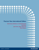 Elementary Statistics in Social Research: Pearson New International Edition
