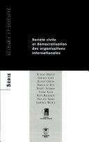 Société civile et démocratisation des organisations internationales