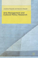 Arts Management and Cultural Policy Research