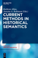 Current Methods in Historical Semantics