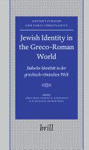 Jewish Identity in the Greco Roman World