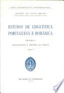 Estudos de linguística portuguesa e românica