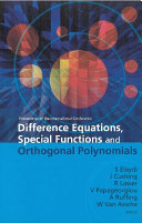 Difference Equations, Special Functions and Orthogonal Polynomials