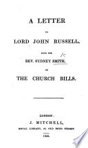 A Letter to Lord John Russell     on the Church Bills