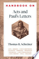 Handbook On Acts And Paul S Letters Handbooks On The New Testament
