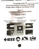 Proceedings of the 25th Annual International Conference of the IEEE Engineering in Medicine and Biology Society Book