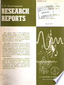 U S  Government Research Reports Book